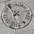 Stock Photo: Tyburn Tree (Gallows) Plaque in London