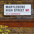 Stock Photo: Marylebone High Street in London