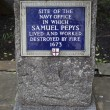 Site of the Navy Office in which Samuel Pepys worked in London — Stock Photo