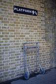 Platform 9 and Three Quarters at Kings Cross Station — Stock Photo