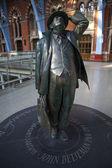 John Betjeman Statue at st Pancras International Station — Stock Photo