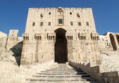 Citadel gate in aleppo syria — Stock Photo
