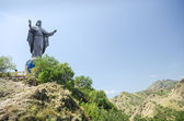 Cristo rei landmark statue near dili east timor — Stock Photo