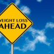 Weight Loss ahead Sign — Stock Photo #10769143
