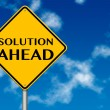 Solution ahead Sign — Stock Photo