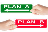 Plan A and B sign — Stock Photo