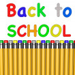 Back to school with pencils — Stock Photo