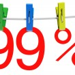 99 percent sale symbol — Stock Photo