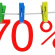 Stock Photo: 70 percent sale symbol