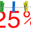 25 percent sale symbol — Stock Photo