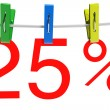 Stock Photo: 25 percent sale symbol