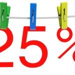 25 percent sale symbol — Stock Photo