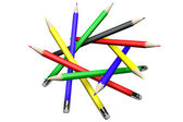 Pencils in circle — Stock Photo