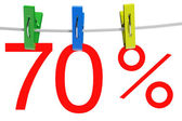 70 percent sale symbol — Stock Photo