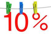 10 percent sale symbol — Stock Photo