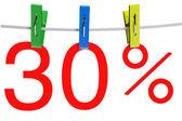 30 percent sale symbol — Stock Photo