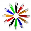 Circle of Colored Pens — Stock Photo #11087440