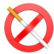 No Smoking sign on a white — Stock Photo