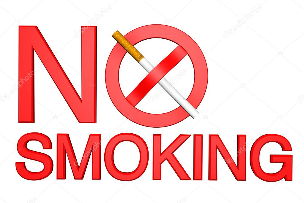 No Smoking sign on a white background — Stock Photo #11201334