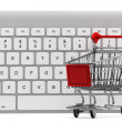 Keyboard and a shopping cart — Stock Photo #11300555