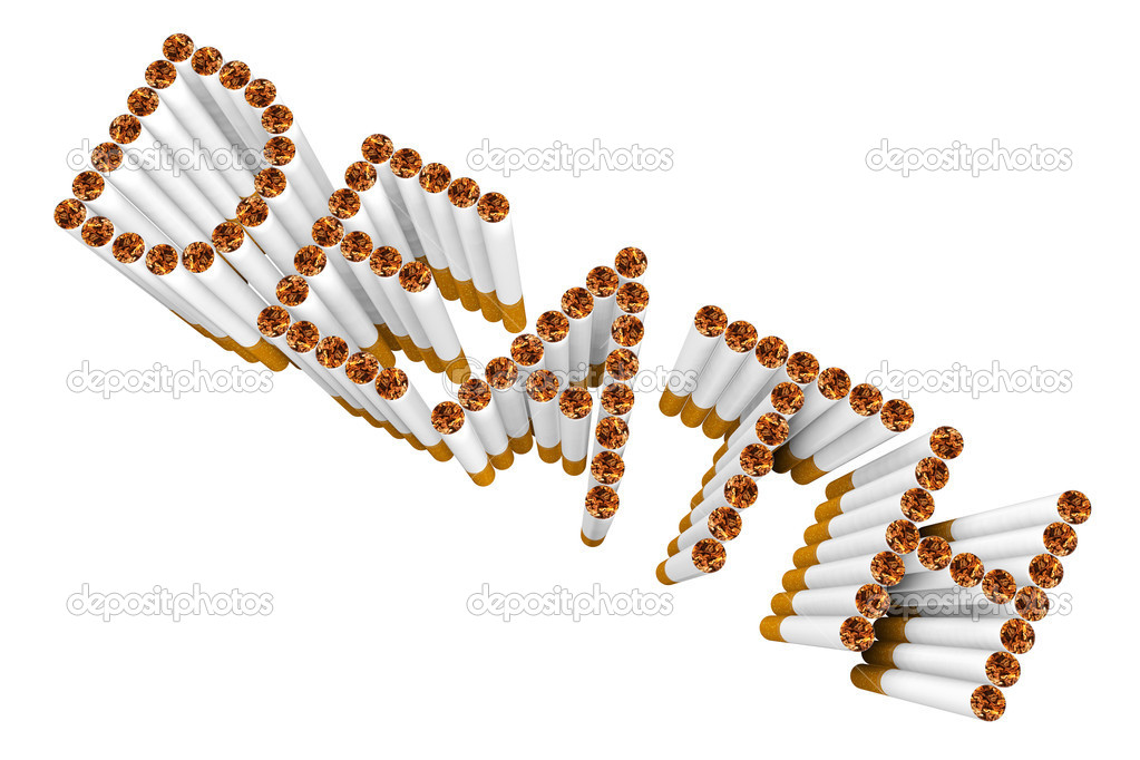 Cigarettes as DEATH word on a white background — Stock Photo #11300542