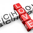 Love School Crossword — Foto Stock