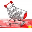 Stock Photo: Credit card with Shopping Cart