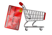 Credit card with Shopping Cart — Stock Photo