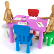 Royalty-Free Stock Photo: Colorful plastic kid chairs and table