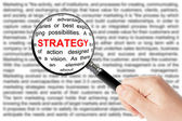 Strategy sign — Stock Photo