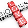 Stock Photo: Love Books Crossword