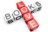 Love Books Crossword — Stock Photo