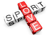 Love Sport Crossword — Stock Photo