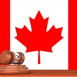 Gavel with Flag Of Canada — Stock Photo #12306917