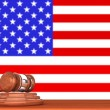 Gavel with Flag Of America — Stock Photo