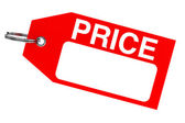 Red price tag — Stock Photo