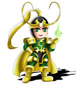 Loki Chibi — Stock Photo