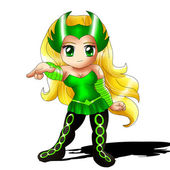 Enchantress Chibi — Stock Photo