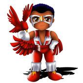 Falcon Chibi — Stock Photo