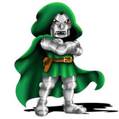 Doctor Doom Chibi — Stock Photo