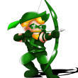 Royalty-Free Stock Photo: Green Arrow Chibi