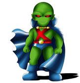Martian Manhunter Chibi — Stock Photo
