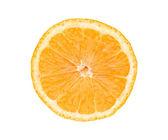 Grote verse sappige oranje segment geïsoleerd op wit — Stockfoto