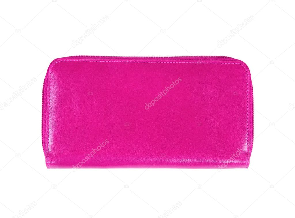 Beautiful pink makeup bag isolated on white — Stock Photo #11027002