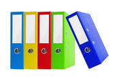 Colorful office folders isolated on the white background — Stock Photo