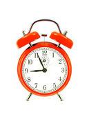 Czerwony dzwon zegar (budzik) na białym tle — Zdjęcie stockowe
