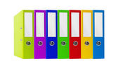 Colorful office folders isolated on white — Stock Photo