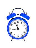 Блу Белл часы (будильник) изолированные на белом фоне — Стоковое фото
