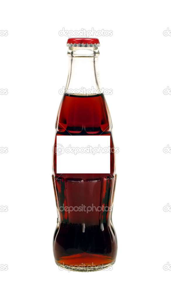 Glass bottle of cola soda isolated on a white background — Stock Photo #12170128