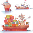 Three ships — Stock Vector #11441553